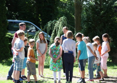 Proben für das Kindermusical Bartimäus für die Aufführung am 26. Juni 2016