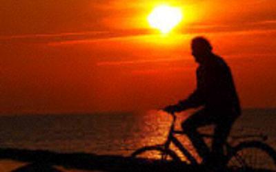 Radeln zum Sonnenuntergang