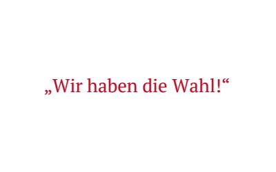 Aufruf zur Bundestagswahl