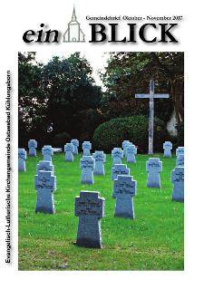 Gemeindebrief Oktober bis Dezember 2017 evangelische Kirchengemeinde Kühlungsborn