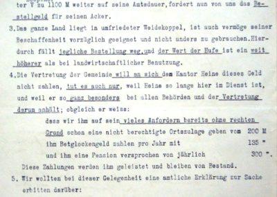 Verpachtung der Küsterländereien Akte 2.S.3.a. 229. Archiv des Lk. Rostock