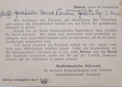 Suche nach vermissten Soldaten. Sammlung Kirchenchronik Kühlungsborn