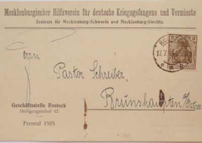 Suche nach Vermissten und Kriegsgefangenen. Sammlung Kirchenchronik Kühlungsborn