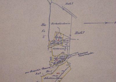 Flurkarte der Kirchen- und Schulländereien in Brunshaupten. Akte 2.S.3.a.229. Archiv des Lk. Rostock