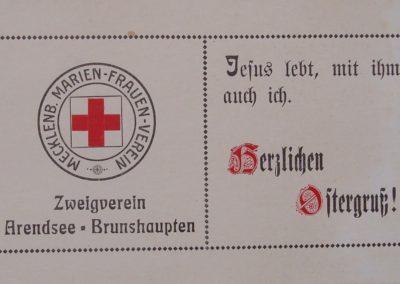Ostergruß des Mecklenburgischen Marien-Frauen-Vereins. Sammlung Kirchenchronik Kühlungsborn