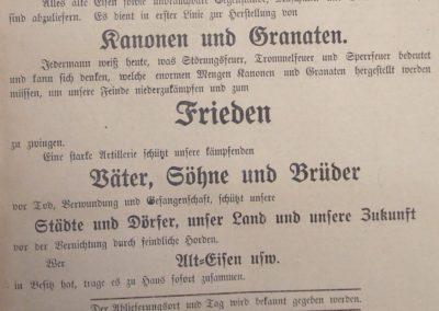 Aufruf zur Ablieferung von Alteisen. Ostsee-Bote, 30.8.1918