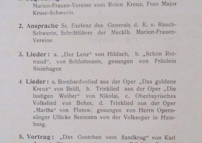 Unterhaltungsabend für Verwundete. Sammlung Kirchenchronik Kühlungsborn