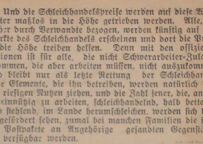 Schleichhandel. Ostsee-Bote, 30.8.1918