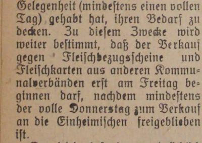 Fleichversorgung 1918. Ostsee-Bote, 12.5.1918