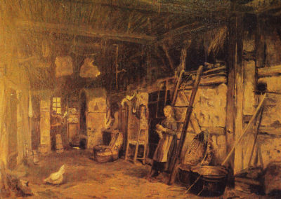 Carl Malchin Bauerndiele in Wittenförden 1872.