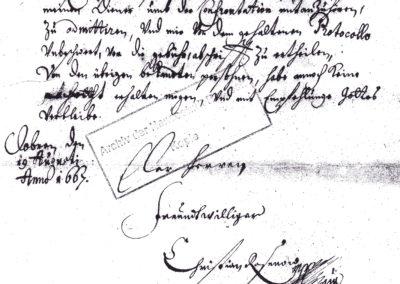 Brief des Verwalters des Großherzoglichen Amts Doberan