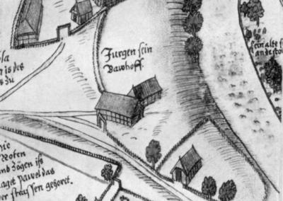 Peter Böckel: Abbild des Dorfes und Gutes Meierstorf bei Grevesmühlen um 1580. S.128
