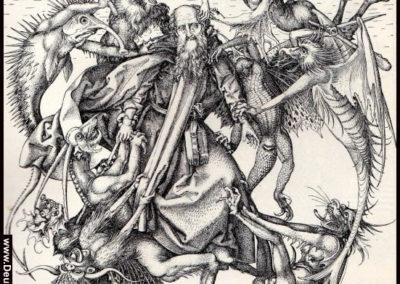 www.Deutschland-im-Mittelalter.de  - Schongauer, Martin: Die Versuchung des heiligen Antonius