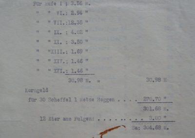 Zahlungen aus der Gemeindekasse an die Kirche 1917. Akte 2.S.3.a.239 Archiv des Lk. Rostock