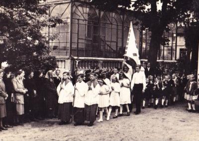 Einzug in die neue Kirche 23.02.1951 - Foto Klaus Dittmann