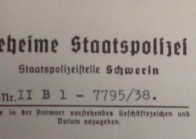 Gestapo - Kopfbogen