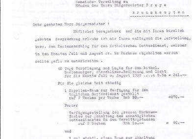 Kostenanschlag für die Durchführung der katholischen Gottesdienste - Akte 2S3a242 Archiv des Lk Rostock